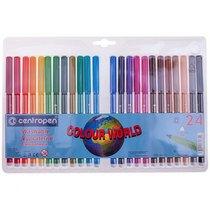 Набор цветных фломастеров Centropen , 24 цвета
