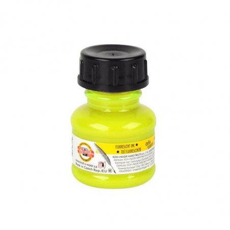 Тушь художественная Koh-n-noor, цвет желтый флуоресцентный 20 г.