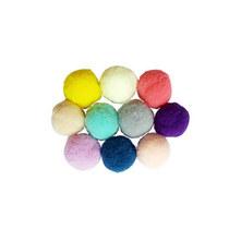 Текстильные бархатные бусины-помпоны, цвет микс 2 см 10 шт.