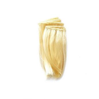 """Искусственные  прямые волосы на трессе """"Каре"""" (10 см) , цвет блонд (2/11)"""