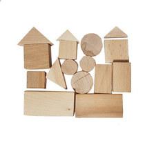 Набор деревянных игрушек (16 геометрических фигур)