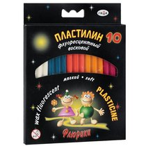 """Пластилин флуоресцентный восковой """"Флюрики"""" Гамма, 12 цветов"""