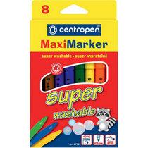 """Набор фломастеров  """"Super Maxi"""" Centropen, 8 цветов"""