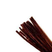 Синельная проволока, цвет темно-коричневый, 30 см, 1 штука