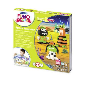"""Набор полимерной глины FIMO Kids Form & Play """"Космические монстрики"""" 8034 17"""