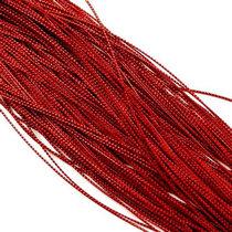 Нить люрексовая 1 мм, цвет красный, 1м