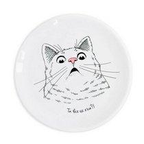 """Тарелка """"Удивленный кот"""", d 25 см"""