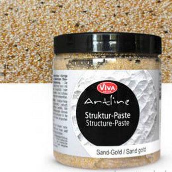 Структурная паста Artline VIVA №202 Золотой песок , 250 мл.