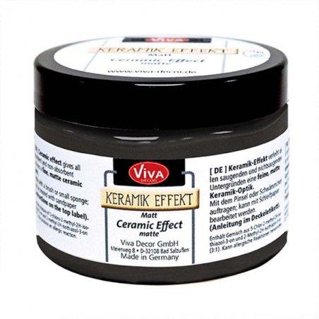 Матовая краска с эффектом керамики  Ceramic-Effect VIVA №800 Черная, 150мл.