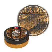 Краска для ткани с металлическим эффектом INKA-TEXTIL VIVA №904 Бронза, 50мл