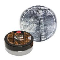 Краска для ткани с металлическим эффектом INKA-TEXTIL METALLOPTIK  VIVA №801 Серебро, 50мл