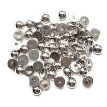 Пластиковые полубусины, цвет серебро, 0,8 см, 10 г