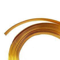 Проволока декоративная в мотке плоская 5мм/3м, цвет золото
