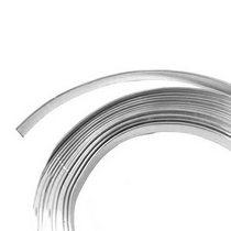 Проволока декоративная в мотке плоская 5мм/3м, цвет серебро