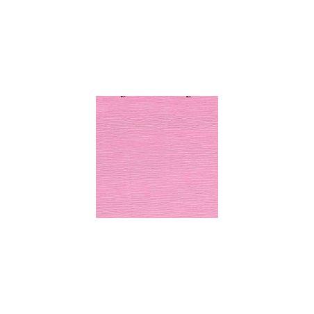 Креп-бумага (гофро-бумага) Италия, плотность - 180г/м², 50смх2,5м, №549 розовый Фламинго