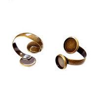 Основа для кольца двойная, 10*12 мм, цвет бронза