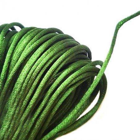 Шнурок шелковый, цвет темно-зеленый, 2 мм, 1м.