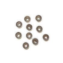 №53 Разделители для бусин 7 мм, цвет - сталь, 10 шт