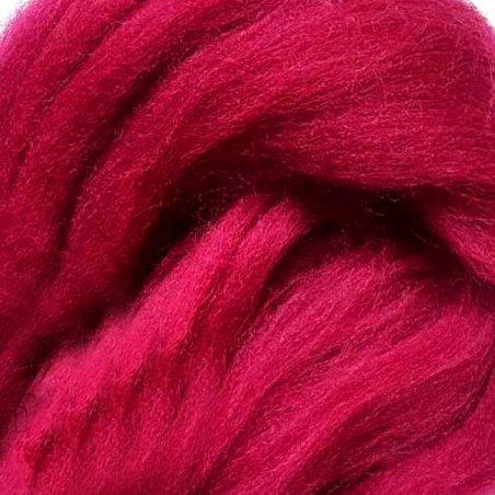 Шерсть для валяния 100% (22-24 мк.) Пурпурный №54, 50г.