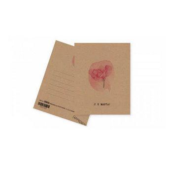 "Мини открытка ""С 8 МАРТА!"" 10х7,5 см"