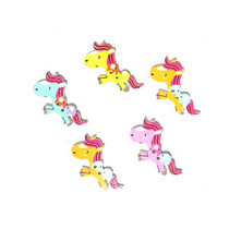 """Пуговицы из дерева  для скрапбукинга """"Лошадки"""", 3,7х2,4 см (5 штук)"""