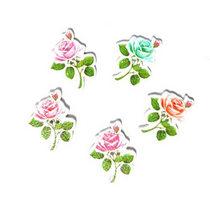 """Пуговицы из дерева для скрапбукинга """"Розы"""", 2,2х3 см (5 штук)"""