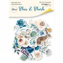 "Набор высечек для скрапбукинга ""Blue and Blush"", 48 шт."