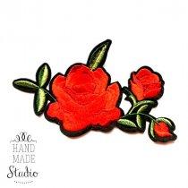 Термонашивка Роза №17, 14х8 см