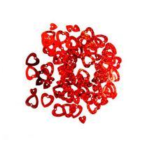 """Пайетки """"Сердечки"""", цвет красный 0,7-1,3 см (2г.)"""