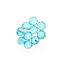 Бусины чешский хрусталь 8 мм, цвет голубой с блеском №172, 10 шт