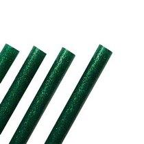 Клей для термоклеевого пистолета с глиттером 11 мм, цвет - зеленый, 18см