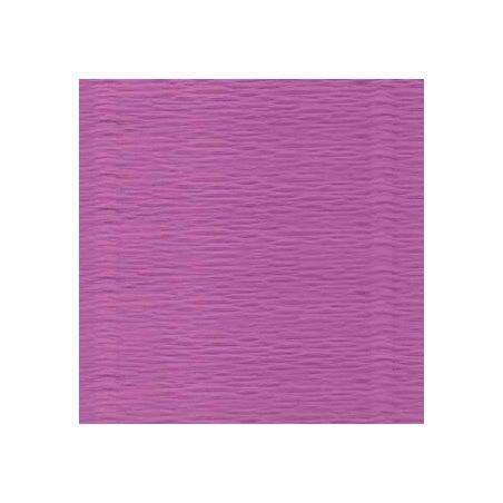 Креп-бумага (гофро-бумага) Италия, плотность - 180г/м², 50смх2,5м, №590 Сиреневый