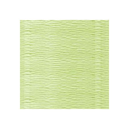 Креп-бумага (гофро-бумага) Италия, плотность - 180г/м², 50смх2,5м, №574 Пастельно-желтый