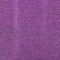 Креп-бумага (гофро-бумага) Италия, плотность - 180г/м², 50смх2,5м, №17Е/2 Лавандовый