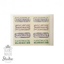 """Наклейки-бирки цветные на листе """"HANDMADE"""" 5х2,3 см, 8 шт"""