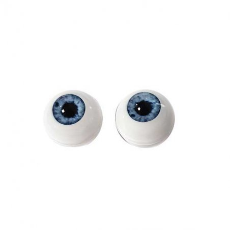 Акриловые глаза для кукол, цвет - светло-голубой, 12 мм. Арт. G12LF-01