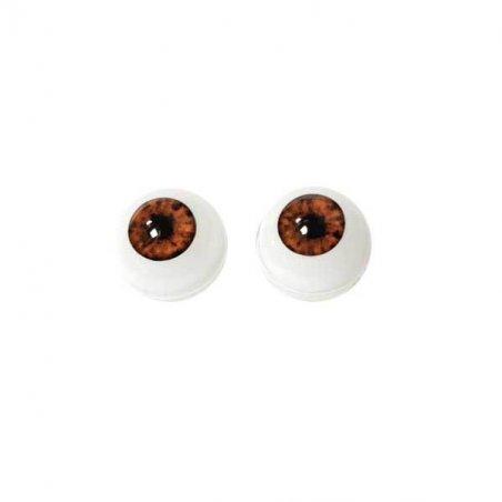 Акриловые глаза для кукол, цвет - коричневый, 10 мм. Арт. G10LF-09