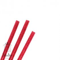 Клей для термоклеевого пистолета с глиттером 7 мм, цвет - красный, 18см