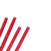Клей для термоклеевого пистолета с глиттером 11 мм, цвет - красный, 18см
