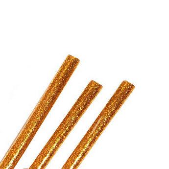 Клей для термоклеевого пистолета с глиттером 11 мм, цвет - золотой, 18см