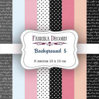 """Набор двусторонней фоновой бумаги 15х15 см """"Background 5"""", 200г/м2, 8 шт"""