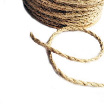 Бечевка (джутовый шпагат) для декорирования, толщина - 10 мм, 1 м