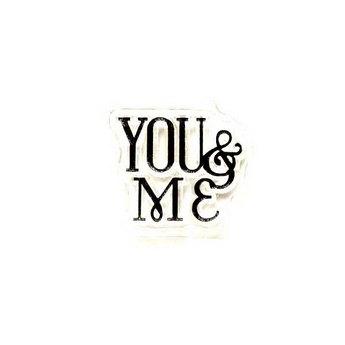 """Силиконовый штамп """"YOU and ME"""" 2х1,6 см"""
