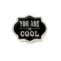 "Силиконовый штамп ""YOU ARE so COOL"" 3,5х2,7 см"