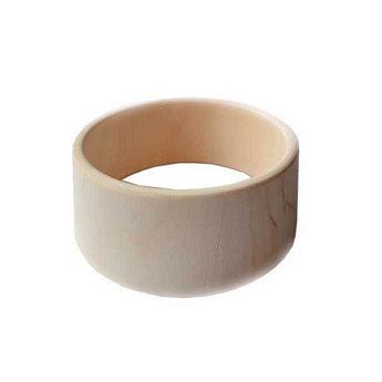 Браслет деревянный ровный, ширина - 4,5  см