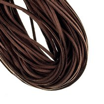 Замшевый шнур, цвет шоколадный, толщина 6 мм (1,2м.)
