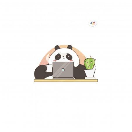 "Блокнот №340 ""Funny series"" panda at work, B6, 80л."