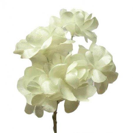 Цветки яблони 2,5 см, цвет айвори (5 штук)