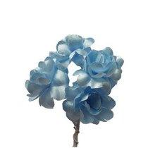 Цветки яблони 2,5 см, цвет светло-голубой (5 штук)