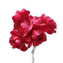 Цветки яблони 2,5 см, цвет малиновый (5 штук)